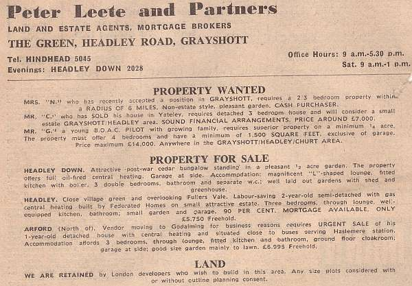 Peter Leete and Partners Advert